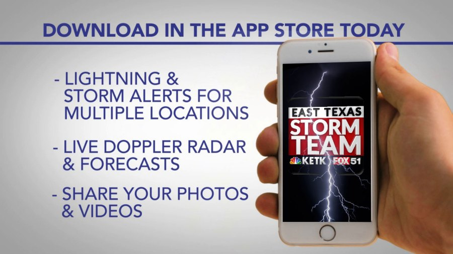 This image has an empty alt attribute; its file name is East-Texas-Storm-Team-App-News-Promo.jpg