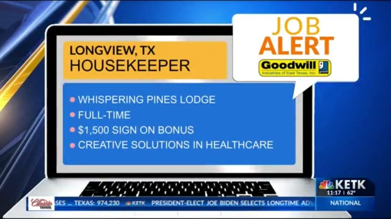 Goodwill Bonus For Christmas 2020 JOB ALERT: Creative Solutions in Healthcare seeks Housekeeper with